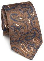 Kiton Paisley Printed Silk Tie