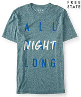 Aeropostale Mens Free State All Night Long Graphic T Shirt Blue