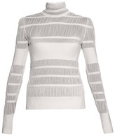 Alexander McQueen Striped-knit high-neck sweater