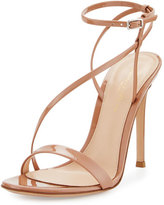 Gianvito Rossi Carlyle Patent Strappy 105mm Sandal, Neutral