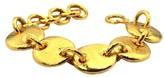 Gurhan 24K Yellow Gold Hammered Pebble Accents Link Bracelet