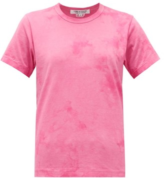 Comme des Garcons Tie-dye Cotton T-shirt - Womens - Pink