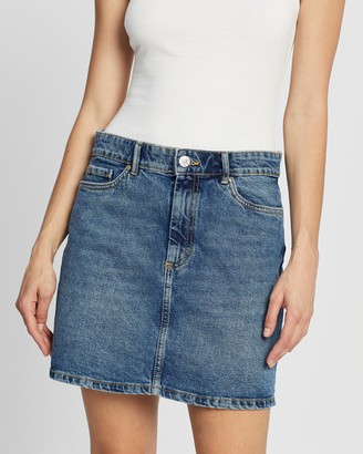 Only Women's Blue Cropped tops - A Shape Denim Skirt - Size 34 at The Iconic
