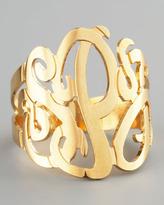 Jennifer Zeuner Jewelry Three-Initial Monogram Ring