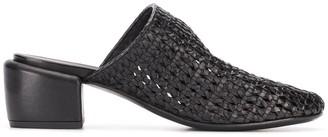 Marsèll Woven Style Block Heel Mules