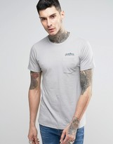 Patagonia T-shirt With Chest Logo And Pocket In Slim Fit Grey