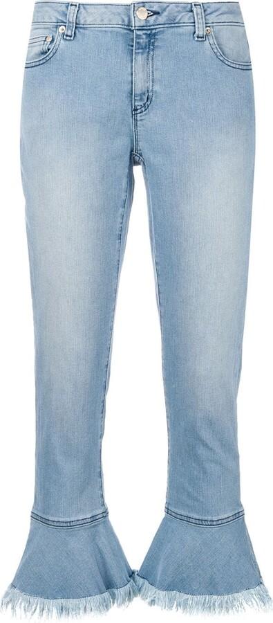 MICHAEL Michael Kors Fringed Hem Jeans