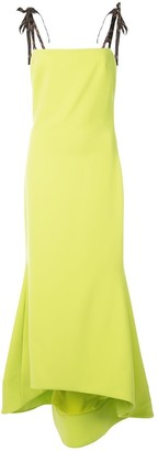 Christian Siriano Peplum Hem Long Dress