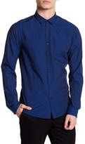 Scotch & Soda Long Sleeve Print Slim Fit Woven Shirt