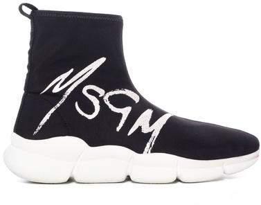 MSGM Logo Sock Sneaker
