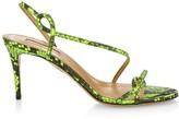 Aquazzura Serpentine Neon Snakeskin Slingback Sandals