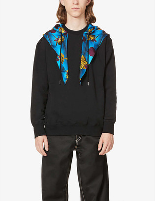 Opening Ceremony Floral Scarf cotton-jersey hoody