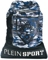 Plein Sport - tiger print camouflage backpack - men - Nylon/Polyester/Polyurethane - One Size