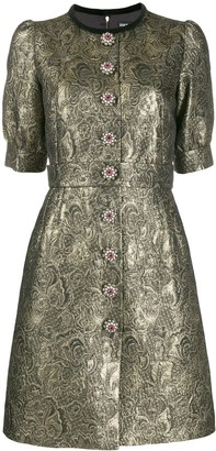Dolce & Gabbana Metallic Brocade Short Dress