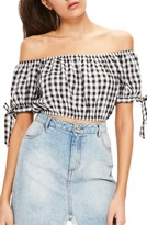 Missguided Women's Gingham Off The Shoulder Blouse