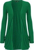 WearAll Women's Long Sleeve Pocket Cardigan - US (UK 8-10)