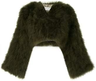 Sonia Rykiel turkey feather bolero jacket