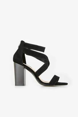 Wallis Black Block Heel Sandal