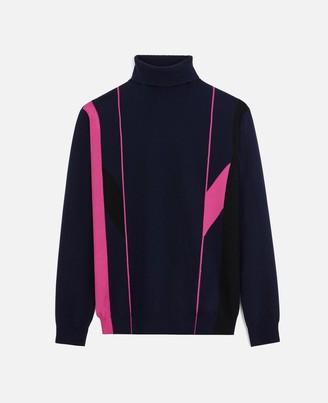 Stella McCartney Navy Knit Turtleneck, Men's