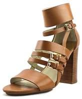 KORS Felicia Women Open-toe Suede Black Heels.