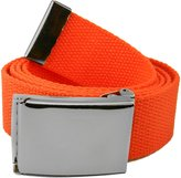 Build A Belt Wide 1.5 Pewter Flip Top Men's Belt Buckle with Canvas Web Belt X-Large