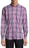 Tailorbyrd Checkered Cotton Button-Down Shirt