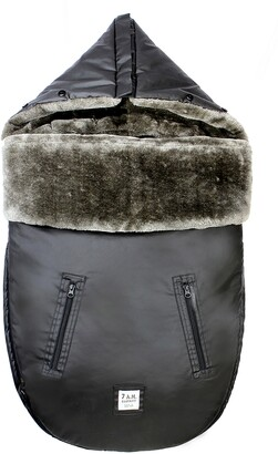 7 A.M. Enfant WaxedPOD Faux Fur Lined Water Repellent Car Seat/Stroller Bunting