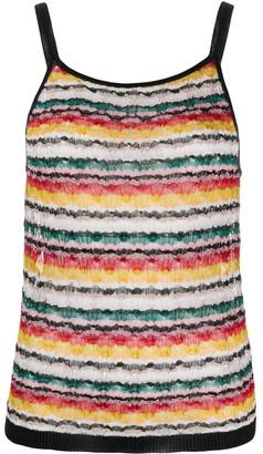 Missoni Stripe Print Knit Top