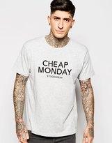Cheap Monday T-shirt Standard Embroid Logo - Grey