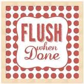 """Metaverse Art """"Flush When Done"""" Framed Wall Art"""