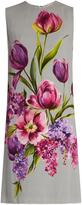 Dolce & Gabbana Floral-print sleeveless cady dress
