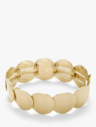 John Lewis & Partners Brushed Circles Stretch Bracelet, Gold