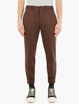 Neil Barrett Brown Cuffed-Hem Trousers
