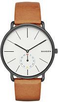 Skagen Hagen Brown Leather Strap Watch
