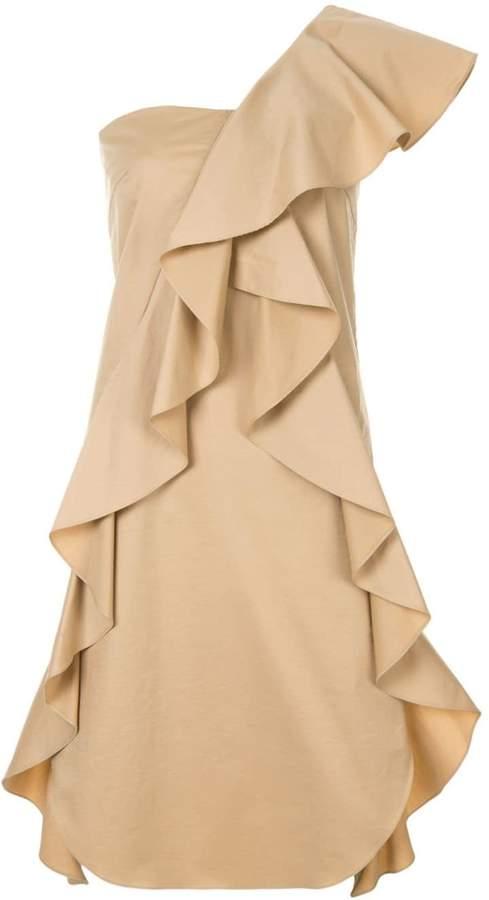 GOEN.J one shoulder mini dress