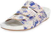Cynthia Vincent Farcia Printed Slip-On Sandal, Blue/Multi