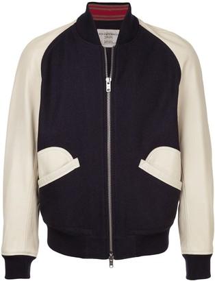 Kent & Curwen contrast baseball jacket