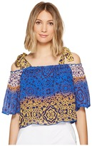 Nicole Miller La Plage by Cleo Bow Tie Beach Top Women's Clothing