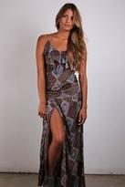 Nightcap Clothing High Thigh Ruffle Dress in Print