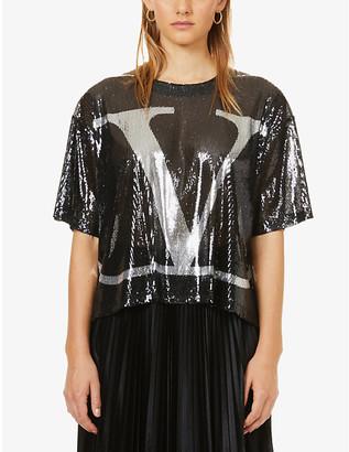 Valentino Loog-embellished sequinned top