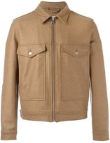 Ami Alexandre Mattiussi buttoned pockets zipped jacket