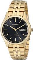Seiko Men's SNE044 Gold Tone Solar Dial Watch