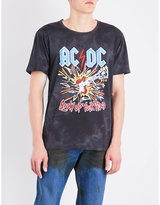Gucci Black Graphic Casual Ac/dc Printed Cotton-jersey T-shirt