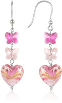 Glass Heart House of Murano Mare - Pink Murano Drop Earrings