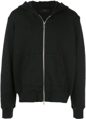 Amiri distressed detail hoodie