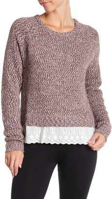 Tart Crew Neck Eyelet Hem Sweater