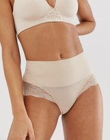 Spanx undie-tectable lace hi-hipster in beige