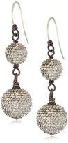 Deanna Hamro Atelier Crystal Silver Shade Double Pave Drop Earrings