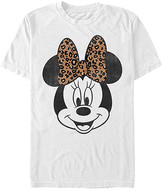 Fifth Sun Tee Shirts WHITE - White Minnie Mouse Leopard Bow Tee - Adult