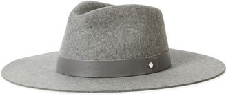 Rag & Bone Kacy Leather-trimmed Wool-felt Fedora